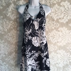 Juniors large knee length halter dress